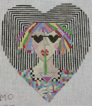 Cosmo Heart Ornament