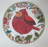 Folk Art Bird Ornament