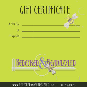 Bedecked & Bedazzled gift certificate template