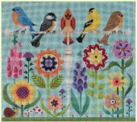 Birds in flower Garden