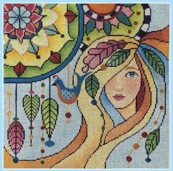 Lady with Mandalas I