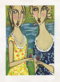 Two Friends with Wine