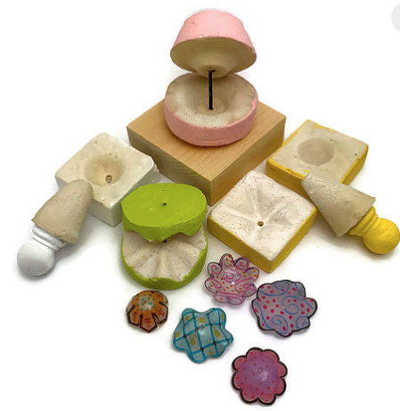 Shrinkets 5 PIECE mold set for shrink plastic bead making